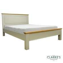 French oak and cream 4ft6 bed frame