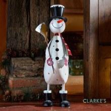Polka Frosty XL Snowman Christmas Figure 60cm