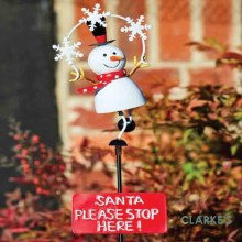 Frosty Snowman Stake Christmas Figure