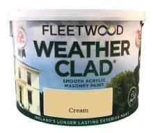 Fleetwood Weather Clad Cream 10 Ltr