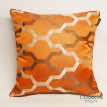 Geo Trellis Peach Cushion