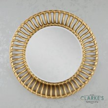 Gina Round Gold Mirror 90cm