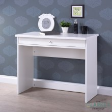 Gina White Writing Desk with Drawer