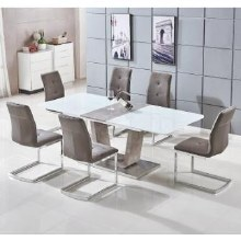 Glendale Dining Set. Extending Table and 6 Chairs