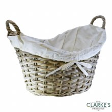 Glenweave Ellipse Rattan Log Basket Large with Handles