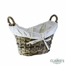 Glenweave Ellipse Rattan Log Basket Small with Handles
