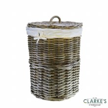 Glenweave Rattan Laundry Basket Medium with Lid