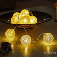 Gold Glo-Globes Christmas Lights