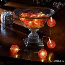 Red 6cm Glo-Globes Battery Lights