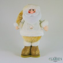 Standing Gold Plush Santa 35cm
