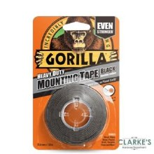 Gorilla Double Sided Mounting Tape Black