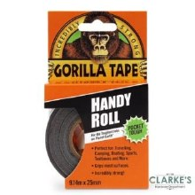 Gorilla Handy Roll Black Duct Tape 9m