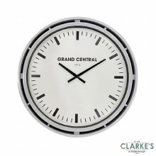 Grand Central Clock Grey Gloss 51cm