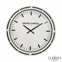 Grand Central Clock Ivory Gloss 51cm