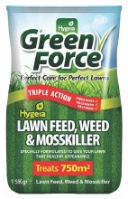 Green Force Lawn Feed, Weed & Moss Killer 15kg