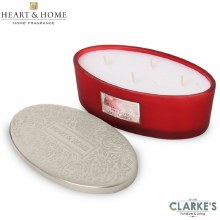 Heart & Home Frosted Apple Spice 4 Wick Scented Ellipse Candle