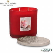 Heart & Home Frosted Apple Spice 2 Wick Scented Ellipse Candle