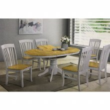 Normandy Dining Set Grey. Extending Table & 6 Chairs