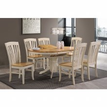 Normandy Dining Set Cream. Extending Table & 6 Chairs