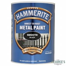 Hammerite Metal Paint Smooth Black 5 Litre