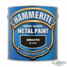 Hammerite Metal Paint Smooth Black 2.5 Litre