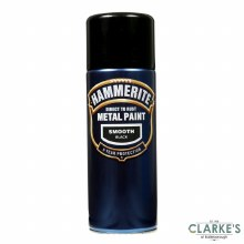 Hammerite Metal Spray Paint Smooth Black 400ml