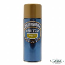 Hammerite Metal Spray Paint Smooth Gold 400ml