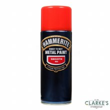 Hammerite Metal Spray Paint Smooth Red 400ml