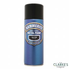 Hammerite Metal Spray Paint Satin Black 400ml