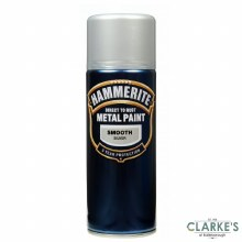 Hammerite Metal Spray Paint Smooth Silver 400ml