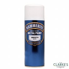 Hammerite Metal Spray Paint Smooth White 400ml