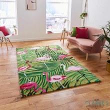 Havana Rug Green/Pink