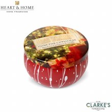 Heart & Home Home For Christmas Tin Candle