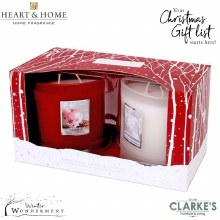 Heart & Home Twin Wick Candle Gift Set