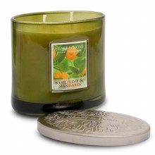 Heart & Home Basile Lime & Mandarin 2 Wick Scented Ellipse Candle