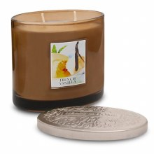 Heart & Home French Vanilla 2 Wick Scented Ellipse Candle