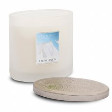 Heart & Home Fresh Linen 2 Wick Scented Ellipse Candle