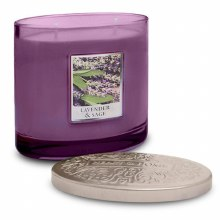 Heart & Home Lavender & Sage 2 Wick Scented Ellipse Candle