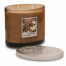 Heart & Home Sandalwood & Vanilla 2 Wick Scented Ellipse Candle