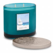 Heart & Home Simply Spa 2 Wick Scented Ellipse Candle