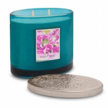 Heart & Home Sweet Pea 2 Wick Scented Ellipse Candle