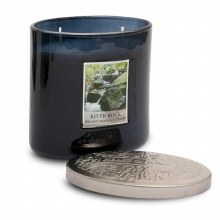 Heart & Home River Rock 2 Wick Scented Ellipse Candle