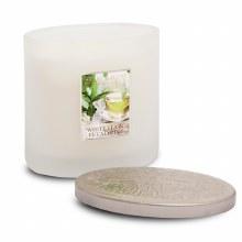 Heart & Home White Tea & Eucalyptus 2 Wick Scented Ellipse Candle