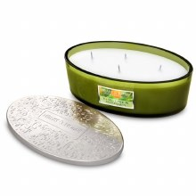 Heart & Home Basil Lime & Mandarin 4 Wick Scented Ellipse Candle