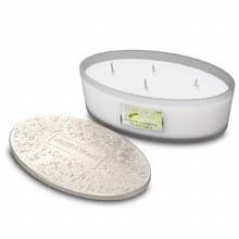 Heart & Home White Jasmine & Freesia 4 Wick Scented Ellipse Candle