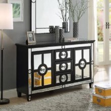 Henley mirrored black large sideboard