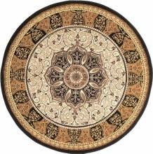 Heritage Circle Rug Black / Cream 150 x 150cm