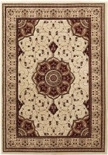 Heritage Traditional Rug Cream/Red 80x140cm