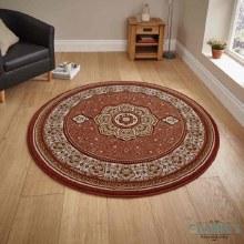 Heritage Circle Rug Terracotta 150x150cm