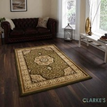 Heritage Traditional Green Rug 120 x 170cm